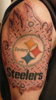 jersey tattoo pittsburgh steelers fan inks it the skin. Black Bedroom Furniture Sets. Home Design Ideas