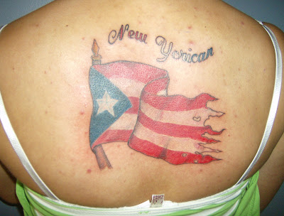 Puerto Rican flag tattoo
