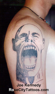 Screaming Face tattoo