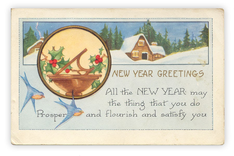 Forgotten Bookmarks: New Year Greetings