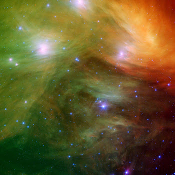 The 'Sister Stars' of the Pleiades 'posing' for the Spitzer telescope