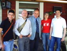 Giancarlo  Iacchini con altri compagni di Fano