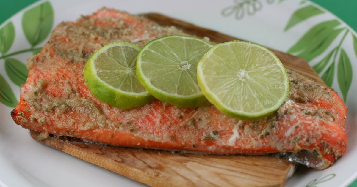 Cedar Planked Salmon Cooked in the CrockPot