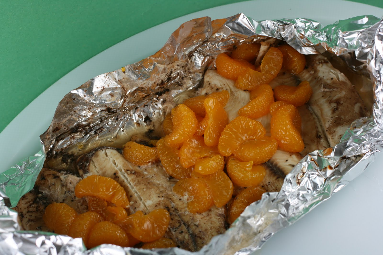 ... post includes a recipe for Mandarin Orange Honey Tilapia -- amazing