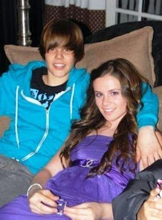 justin bieber with ex-girlfriend