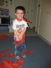 Keaton at his preschool Valentines party.