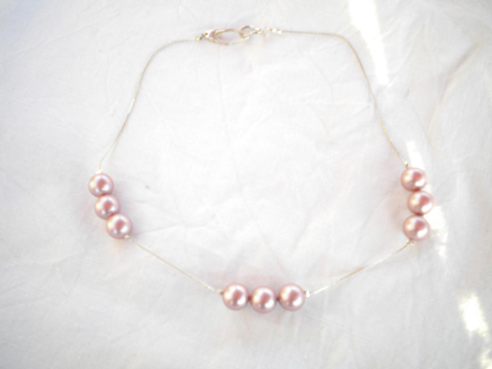 collana argento e perle rosa swarosky