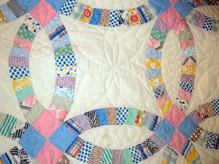 Double Wedding Ring Quilt Repair
