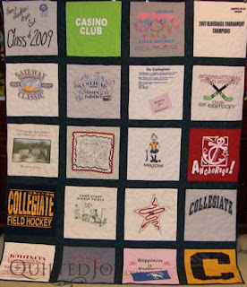 T-Shirt quilt, quilted by Angela Huffman