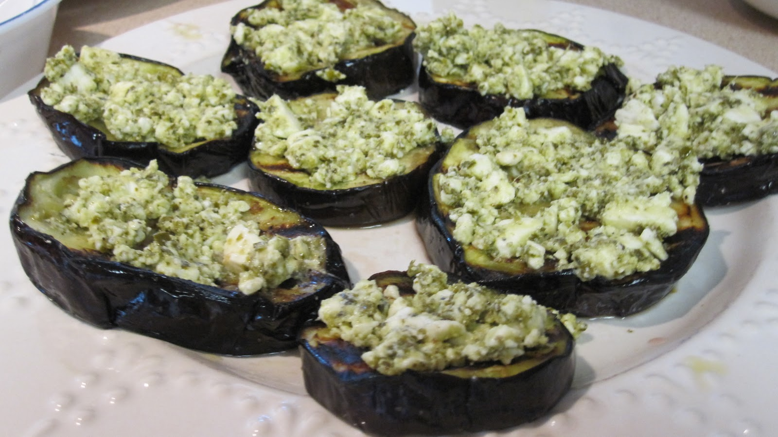 Grilled Eggplant With Creamed Feta Recipe — Dishmaps