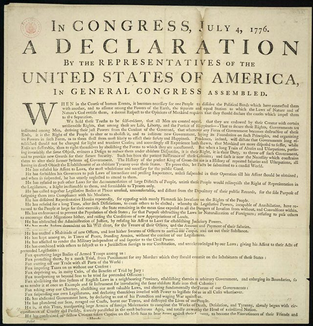 history declaration independence