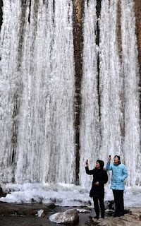 Aneh Air Terjun Ini Membeku [ www.BlogApaAja.com ]