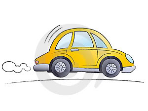 how to draw a car driving away