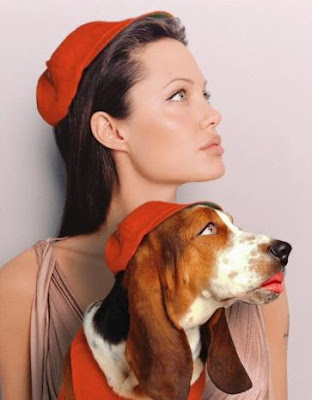 Celebrity Female on Celebrity Dogs