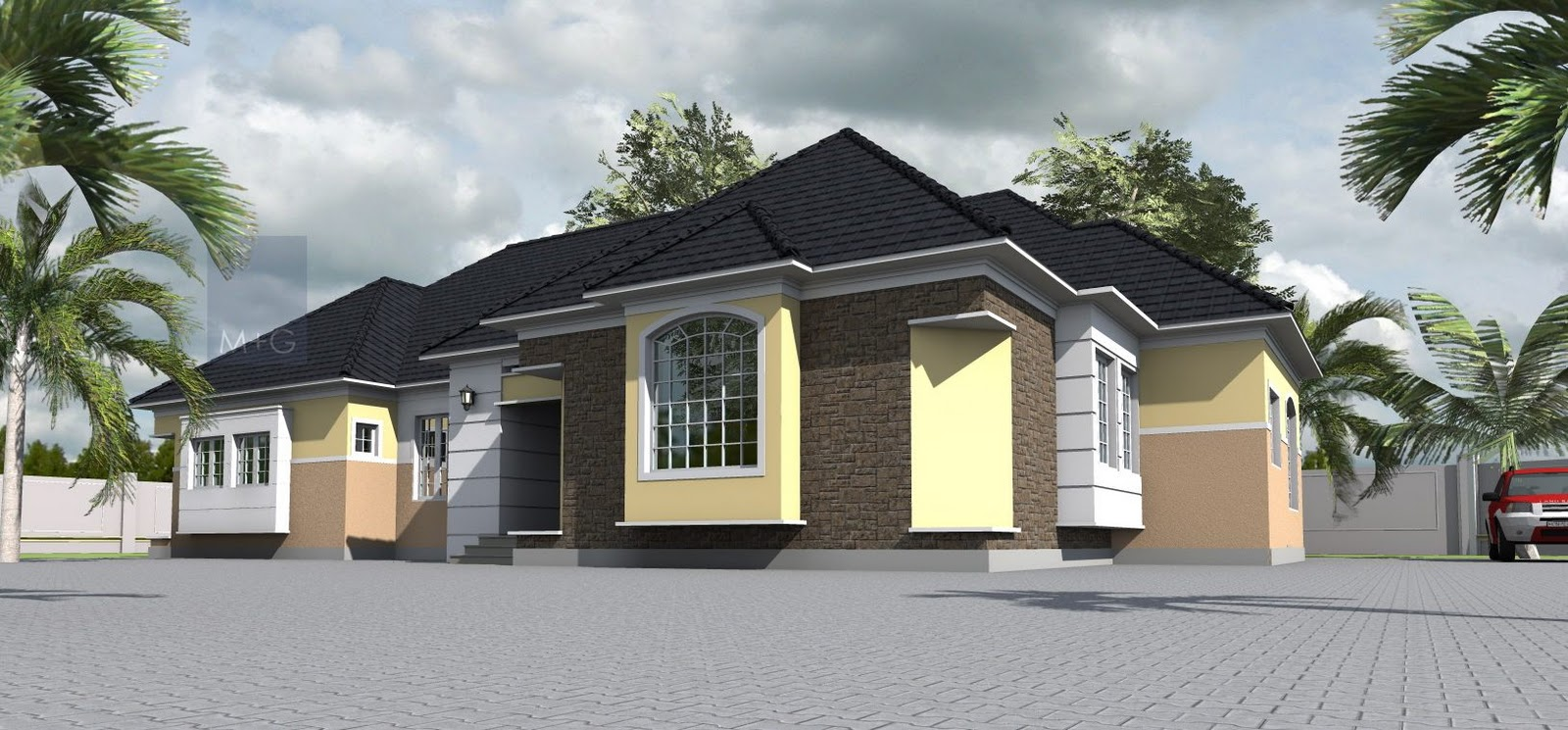 6 bedroom bungalow house plans in nigeria for New bungalow style homes