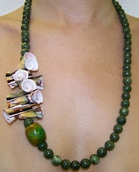 Jade & Shell Necklace - $55