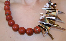 Jasper & Sea Shells Necklace - $110
