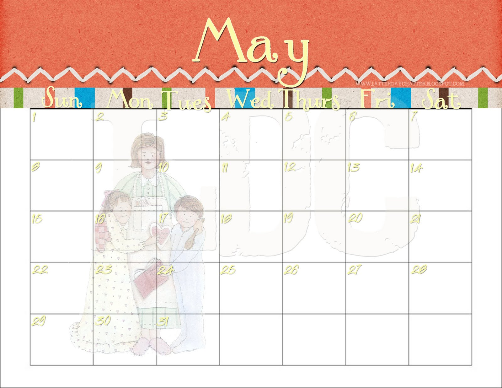 Latter-Day Chatter: 2011 Monthly Calendars