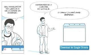 Anúncio do Google Chrome.