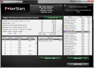 Nightly $500 Giveaway Shootout Freeroll (LatAm).