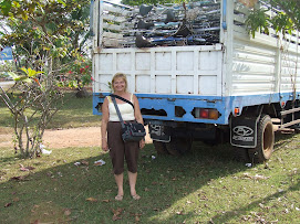 Rotarian Lisa McCoy & Truck of Bikes!