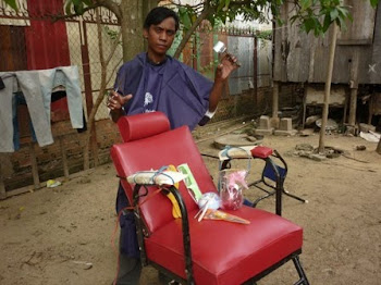 Barber Business for a Landmine Survivor