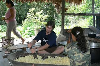 Foto del proceso de masato en perú