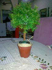 WELCOME TOPIARY ...HEIGHT 12 INCH..(1 KAKI)