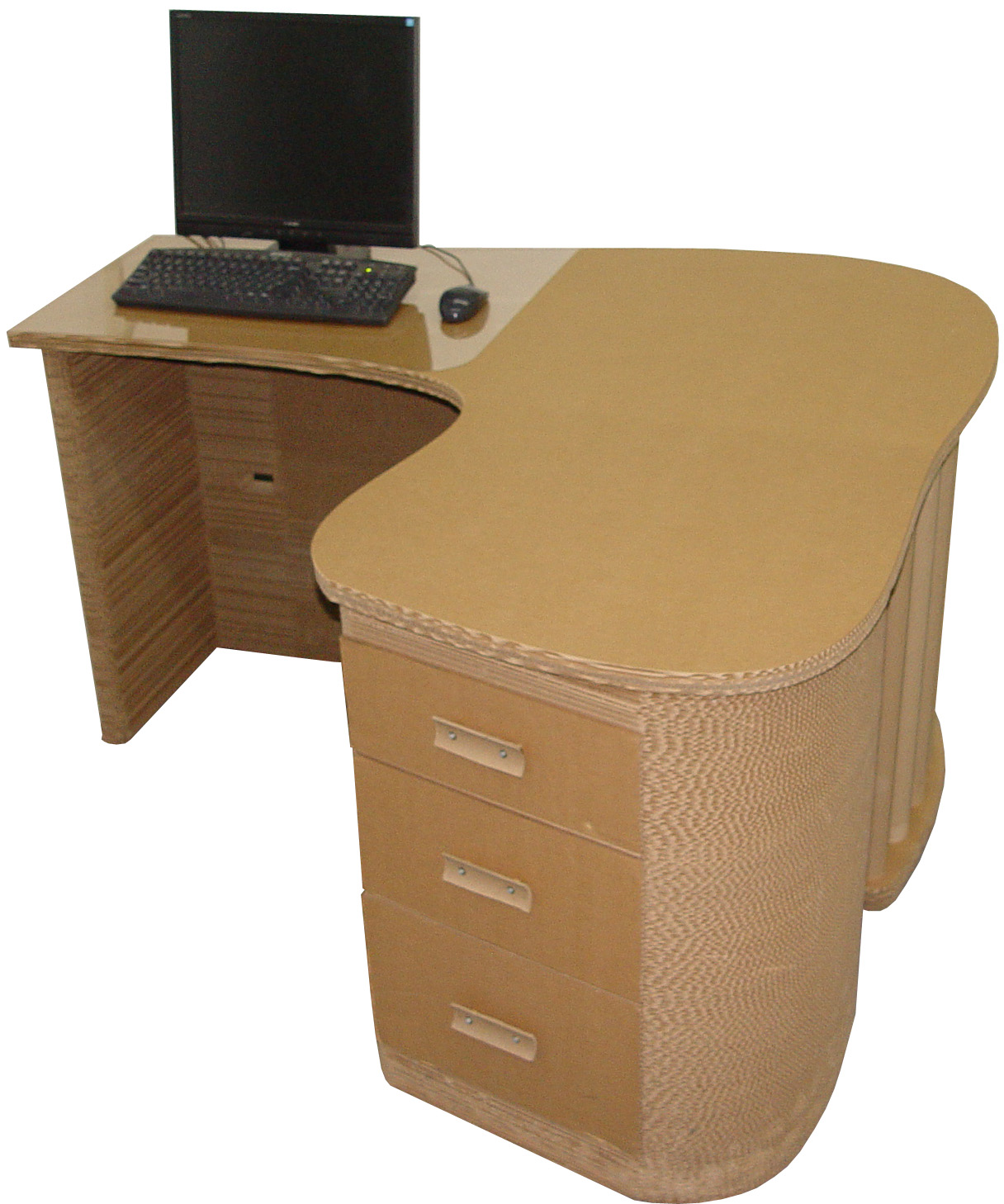 cardboard desk in products promotional shop organizer push