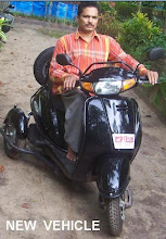 Pushpakumar on his new vehicle