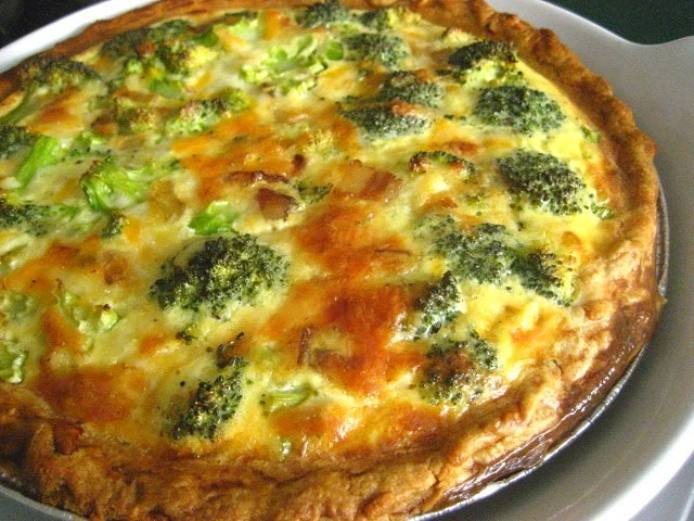 Stacey Snacks: Comfort: Broccoli Bacon & Cheddar Quiche