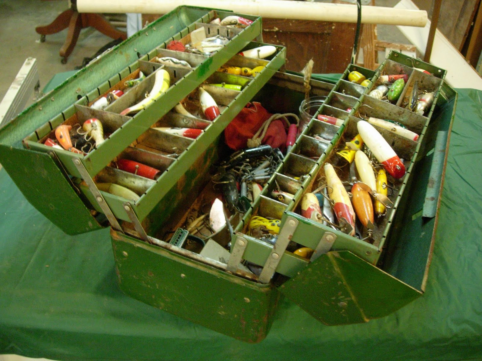 Man making woodshop tackle boxes towers and good men for Fishing tackle box