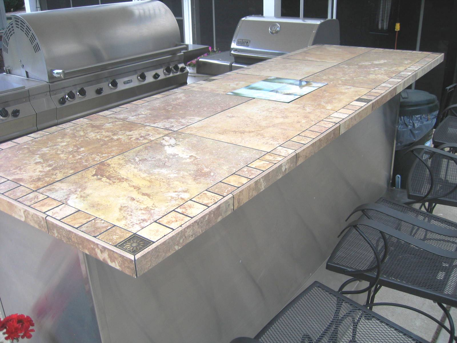 Handyman steve bar top for Tile bar top ideas