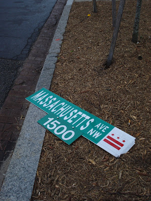 DC street signs have a way of ending up in the oddest places.