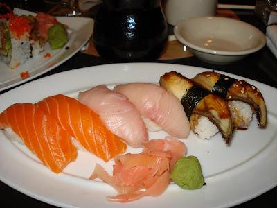 Flying fish sushi