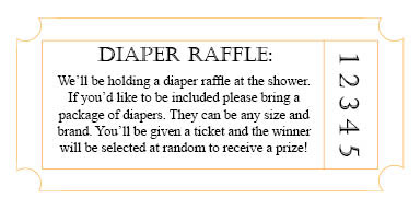 Baby Shower Diaper Raffle Poem  Tattoo Pictures    Pinteres