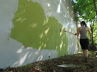 Painting a wall gray or green