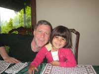 Chris Leyerle and his granddaughter