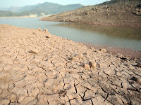 Effect of drought on river in Pakistan