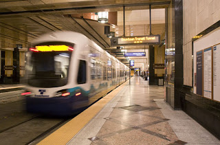 Sound Transit train in tranist tunnel