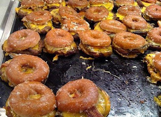 Krispy Kreme Bacon Cheeseburgers