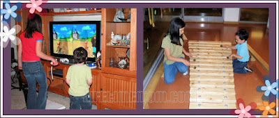 Mommy Moments Bonding Playing Wii and the Xylophone