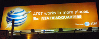 billboard liberation front touts at&t & nsa collaboration