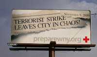 billboards urge preparedness for attack on 11/9/09