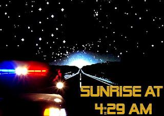 ground zero: sunrise at 4:29am