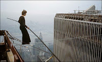 'man on wire' omits 9/11 tragedy