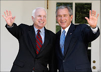 bush &amp; mccain blackmail america w/ economic terrorism