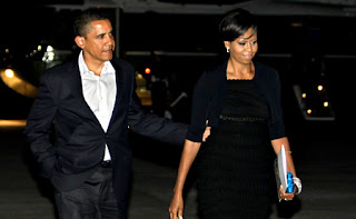 obamas' latest date: flight to nyc for dinner & a show