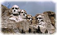 США, Дакота,скала президентов
