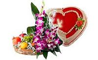 Сердце, цветы, подарок
